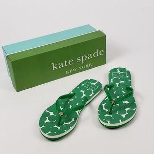NEW!! Kate Spade New York Green Flip Flops 7/8